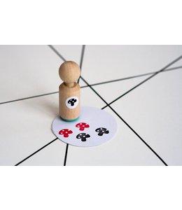 Miss Honeybird Mini stempel - paddenstoel
