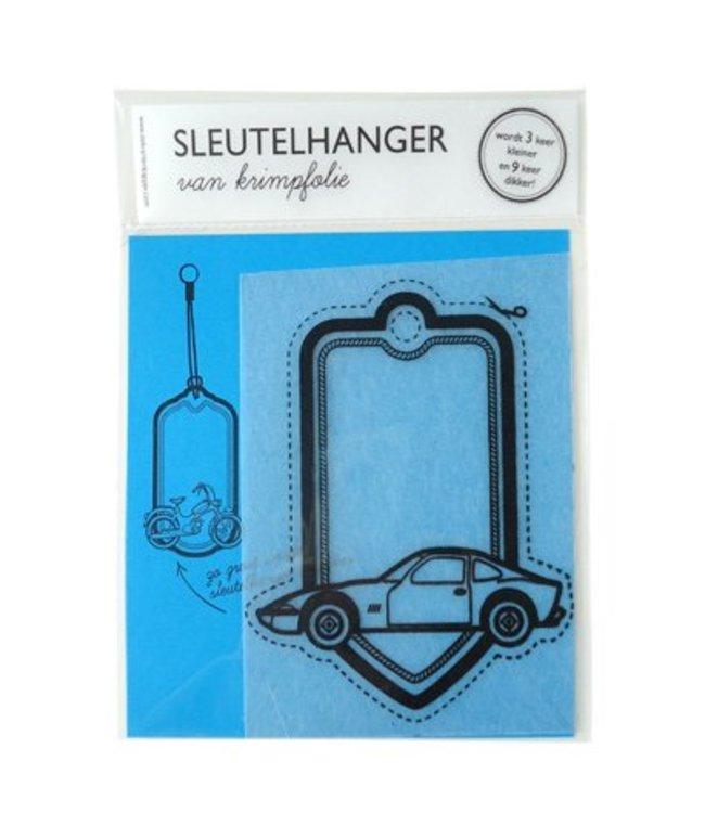 De Krantenkapper DIY Sleutelhanger - Auto