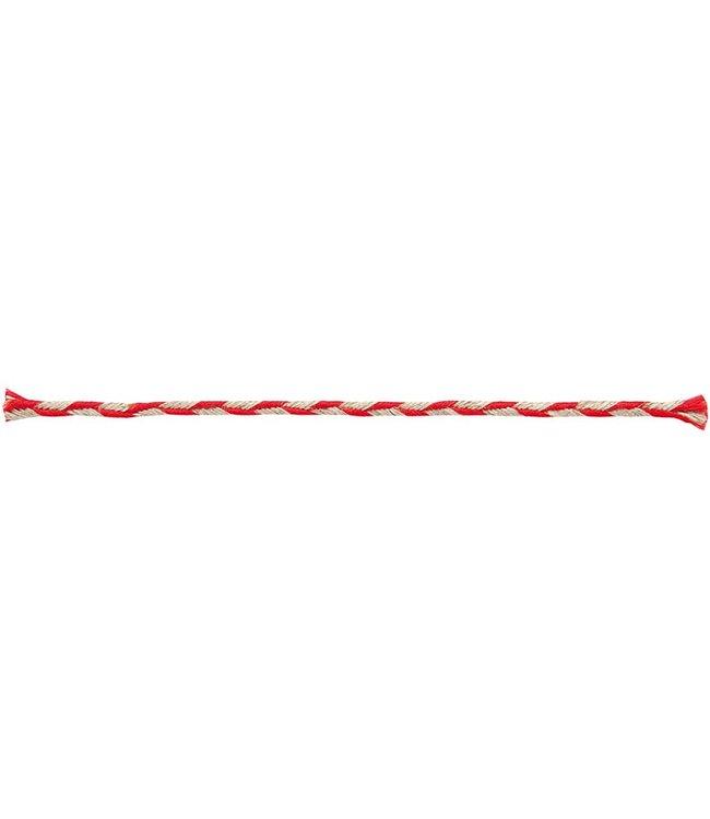 Rico Design Koord rood/naturel