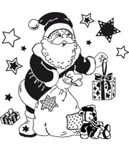 Rico Design Stempel kerstman - groot