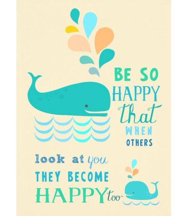 Elisandra Postkaart - Be so happy