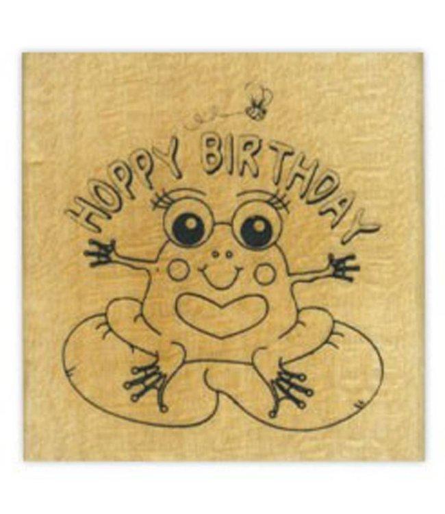 StudioZomooi stempel Hoppy birthday