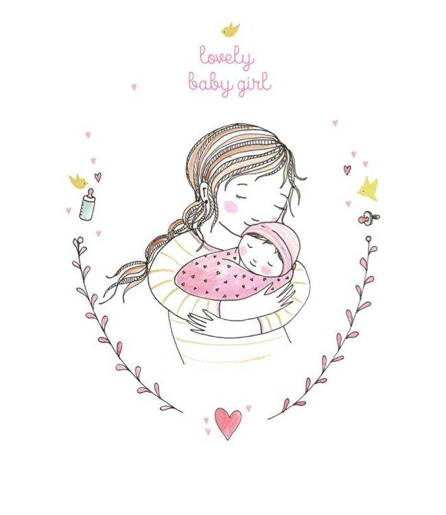 Petite Louise Postkaart - Lovely Baby Girl