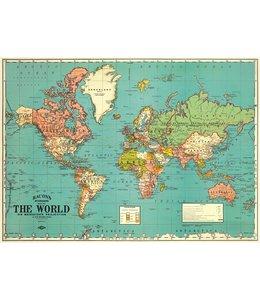 Cavallini & Co Poster/cadeaupapier - Wereld
