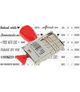 Rico Design Stempel met datum - Homemade on