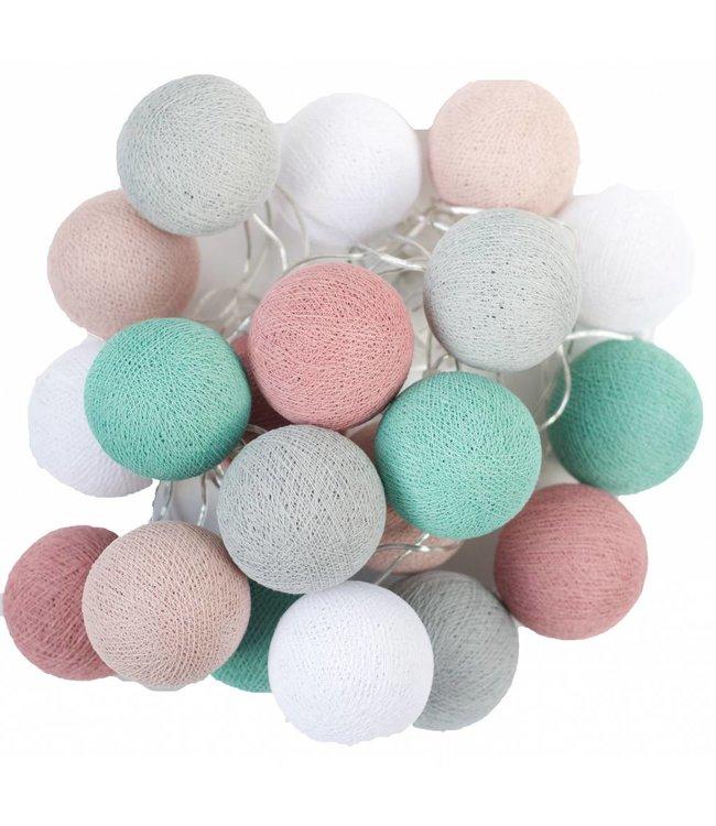 Cotton Ball Lights Cotton Balls lichtslinger Zeegroen-Roze