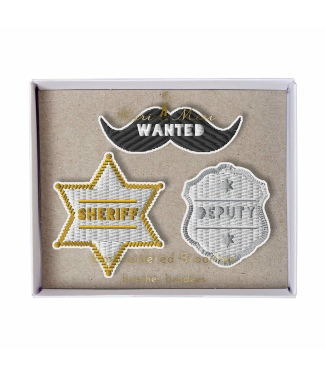 Meri Meri 3 Broches - Sheriff