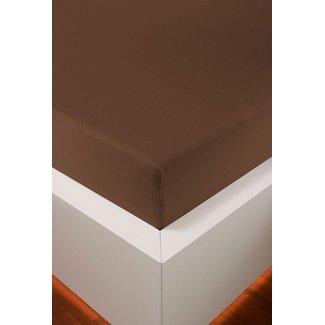 Weseta Switzerland bellana® de Luxe Spannbetttuch/Fixleintuch Jersey mit Elastan, samtweich marone