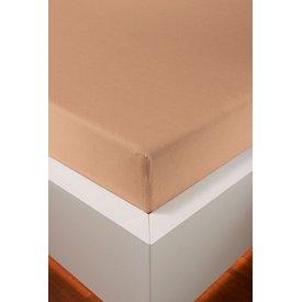 bellana® de Luxe Spannbetttuch/Fixleintuch Jersey mit Elastan, samtweich apricot