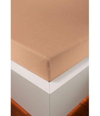 Weseta Switzerland bellana® de Luxe Spannbetttuch/Fixleintuch Jersey mit Elastan, samtweich apricot