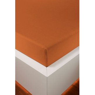 bellana® de Luxe Spannbetttuch/Fixleintuch Jersey mit Elastan, samtweich papaya
