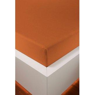 Weseta Switzerland bellana® de Luxe Spannbetttuch/Fixleintuch Jersey mit Elastan, samtweich papaya