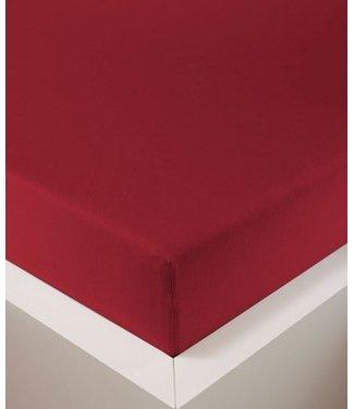 Weseta Switzerland bellana® de Luxe Spannbetttuch/Fixleintuch Jersey mit Elastan, samtweich rubin