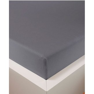 bellana® de Luxe Spannbetttuch/Fixleintuch Jersey mit Elastan, samtweich grau