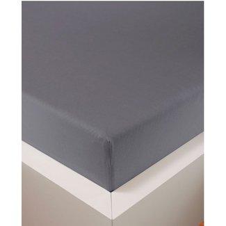 Weseta Switzerland bellana® de Luxe Spannbetttuch/Fixleintuch Jersey mit Elastan, samtweich grau