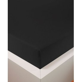 bellana® de Luxe Spannbetttuch/Fixleintuch Jersey mit Elastan, samtweich schwarz