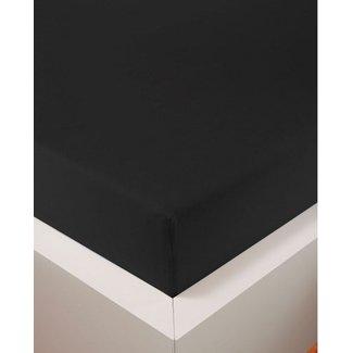 Weseta Switzerland bellana® de Luxe Spannbetttuch/Fixleintuch Jersey mit Elastan, samtweich schwarz