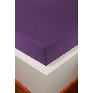 Weseta Switzerland bellana® de Luxe Spannbetttuch/Fixleintuch Jersey mit Elastan, samtweich violett