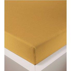 bellana® de Luxe Spannbetttuch/Fixleintuch Jersey mit Elastan, samtweich gold