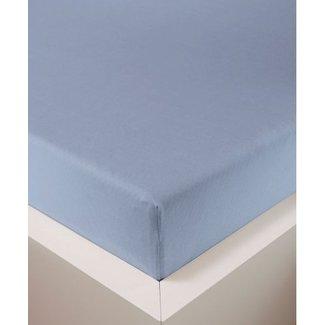 Weseta Switzerland bellana® de Luxe Spannbetttuch/Fixleintuch Jersey mit Elastan, samtweich hellblau
