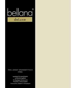 Weseta Switzerland bellana® de Luxe Spannbetttuch/Fixleintuch Jersey mit Elastan, samtweich sand