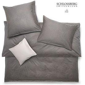 SCHLOSSBERG Schlossberg PEARLS  Jacquard Deluxe Bettwäsche, brun