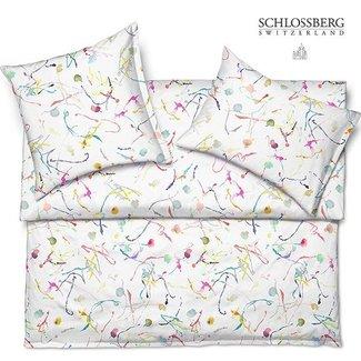 SCHLOSSBERG Schlossberg SPLASH Satin Bettwäsche, blanc