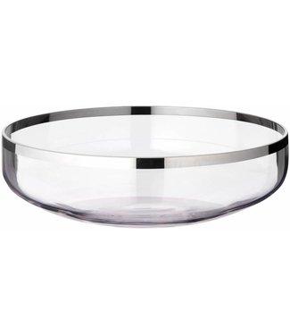 Edzard Schale Mason, Kristallglas mit Platinrand, Ø 35 cm