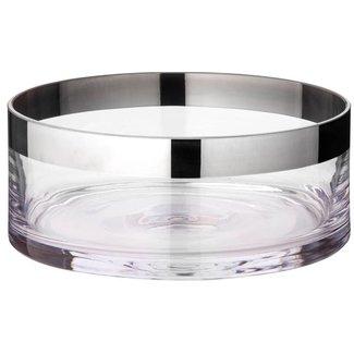 EDZARD Schale Grit, Kristallglas mit Platinrand, Ø 15 | 20 | 25 cm