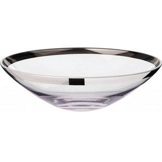 EDZARD Schale Cora, Kristallglas mit Platinrand, Ø 33 cm