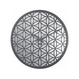 NEXTIME NeXtime Wanduhr Bella Mirror Grau 50 cm
