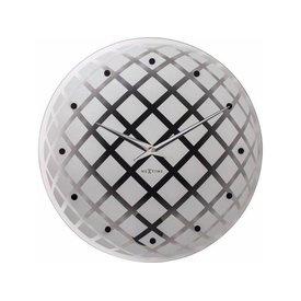NEXTIME NeXtime Wanduhr Pendula Round Silber 43 cm