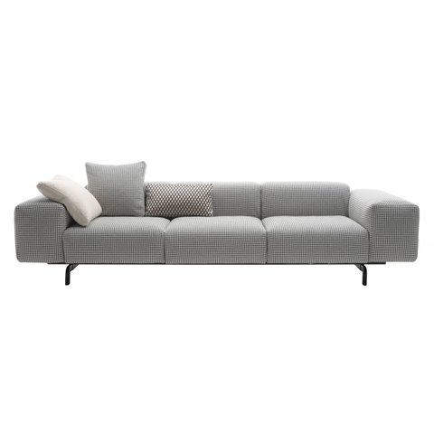 KARTELL 3-Sitzer Sofa Largo fire tested