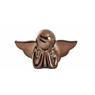 LEONARDO Weihnachtsfigur Velluto 10 cm Engel, Kupfer matt, 6 Stück