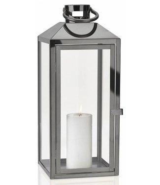 Villa Collection Laterne Titanium 52.5 cm Transparent