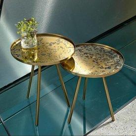 VILLA COLLEKTION Tisch Eisen Glas, Gold