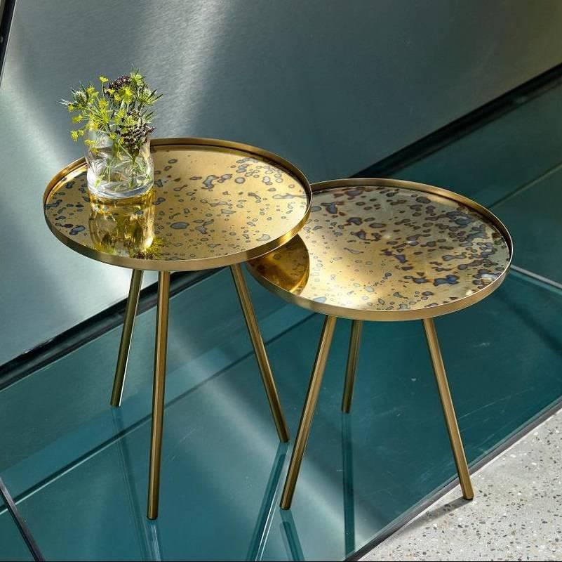 Villa Collection Tisch Eisen Glas Gold