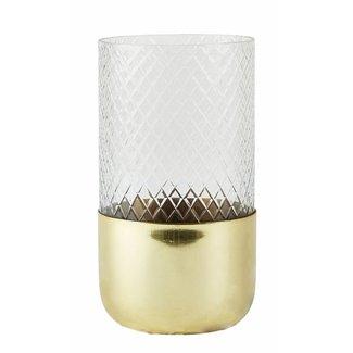 VILLA COLLEKTION Kerzenhalter 19 cm 1 Stück, Gold