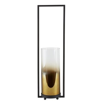 VILLA COLLEKTION Laterne Metallic Amber 48.5 cm Schwarz