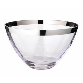 EDZARD Schale Holly, Kristallglas mit Platinrand