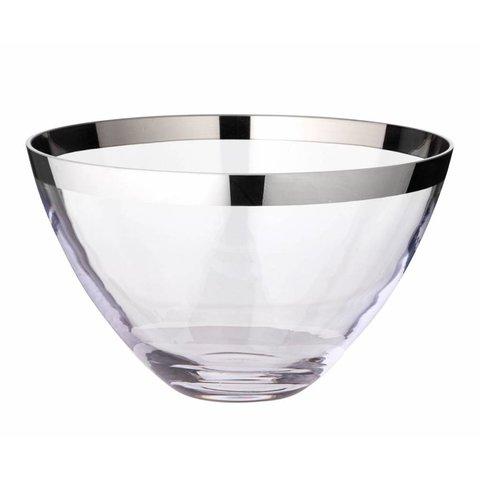 Schale Holly, Kristallglas mit Platinrand