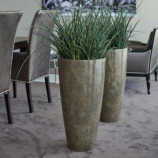 Adiem Exklusive Pflanzentöpf Vase Platinum  perlmutt-weiss