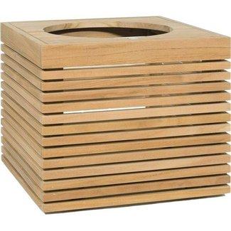 MODULO Pflanzgefäss, 51x51/43 cm, Teak natur
