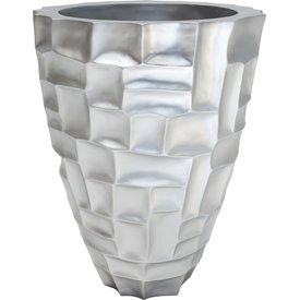 FLEUR-AMI MOSAIC Pflanzgefäß, 56/72 cm, silber metallic