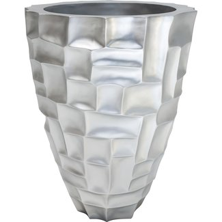 MOSAIC Pflanzgefäß, 56/72 cm, silber metallic