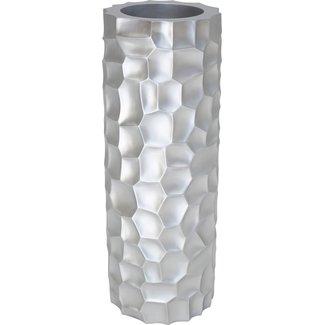 FLEUR-AMI MOSAIC Pflanzsäule, 32/90 cm, silber metallic