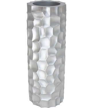 MOSAIC Pflanzsäule, 32/90 cm, silber metallic