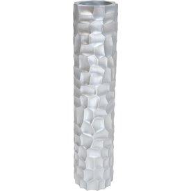 FLEUR-AMI MOSAIC Pflanzsäule, 30/132  cm, silber metallic