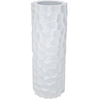 FLEUR-AMI MOSAIC Pflanzsäule, 32/90 cm, weiss hochglanz