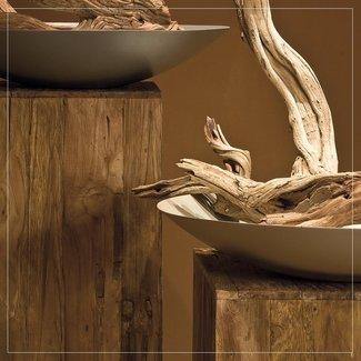 TEAK Deco Holz Säule, Teak recycelt
